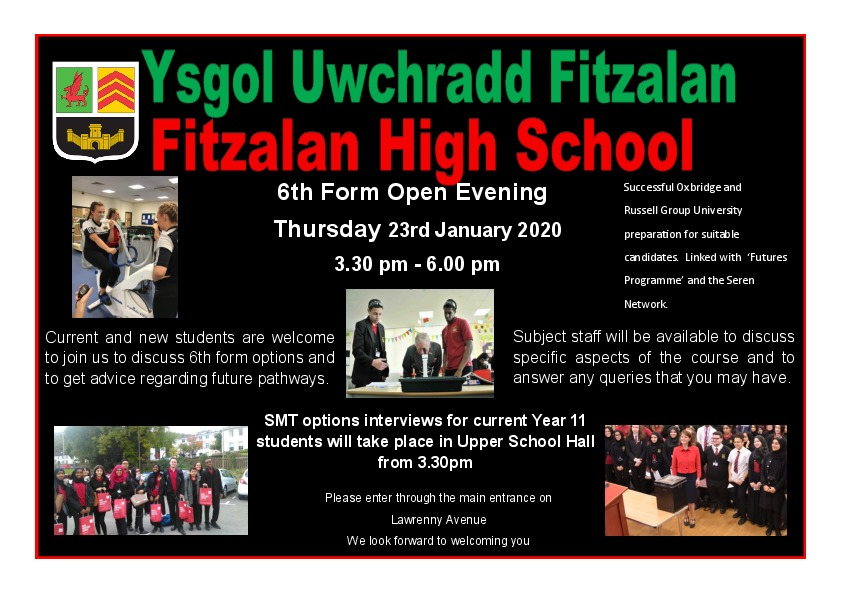 6th Form Open Evening flyer   2020 final